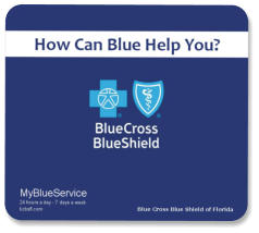 hard top mouse pad -blue cross blue shield